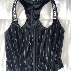 I.AM.GIA. Black Corset / Bustier XS